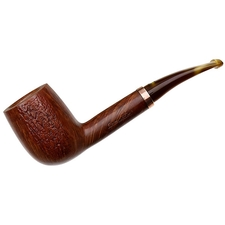 Italian Estates Mauro Armellini Partially Rusticated Bent Billiard (Unsmoked)