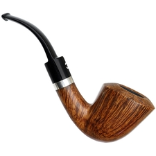 Italian Estates Il Ceppo Smooth Bent Dublin with Silver Band (4) (Unsmoked)
