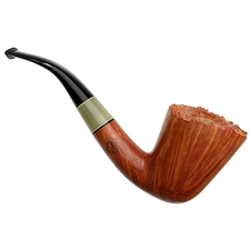 Italian Estates Amorelli Smooth Bent Dublin with Horn (**) (Unsmoked)