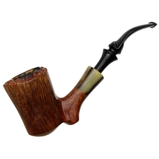 Italian Estates Savinelli Autograph Smooth Bent Dublin with Horn (5)
