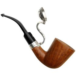 Italian Estates Alberto Bonfiglioli Collectors Edition Smooth Bent Dublin with Silver Windcap (2005) (Unsmoked)