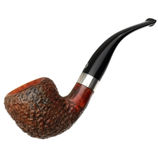Italian Estates T. Cristiano Metamorfosi Rusticated Bent Dublin with Silver (D505) (9mm) (Unsmoked)