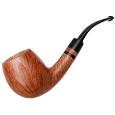 Italian Estates Luigi Viprati Smooth Bent Billiard (Four Clover) (Unsmoked)