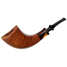 Japanese Estates Tsuge Ikebana Bent Smooth Horn with Acrylic (137) (90)