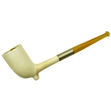 Misc. Estates Goede Waagen Ceramic Cutty with Amber Stem