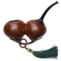 Misc. Estates Sam Cui Smooth Reverse Calabash Double Acorn with Stand (Unsmoked)