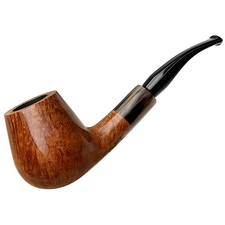 American Estates Randy Wiley Smooth Bent Brandy with Horn (Pipes & Tobaccos Magazine Pipe of the Year) (88) (5-50) (2016) (Unsmoked)