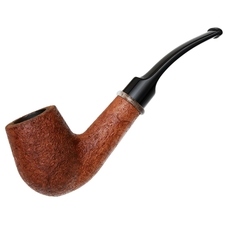 American Estates BriarWorks Classic Light Sandblasted Bent Billiard