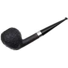 American Estates J. Alan & Brad Pohlmann Sandblasted Pear with Silver (Smokingpipes.com 2010 Christmas Pipe) (03/07)