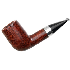 American Estates Cardinal House Hollingsworth Smooth Stubby Billiard with Silver (E15) (Unsmoked)