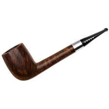 American Estates Pipe by Lee Smooth Canadian with Silver (*****) (Threaded Tenon)
