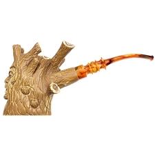 Turkish Estates Unknown Meerschaum Figure In Tree Disguise (Unsmoked)