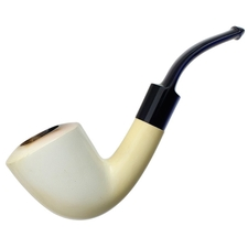 Turkish Estates AKB Meerschaum Smooth Bent Dublin (with Case)