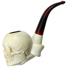 Turkish Estates Ercan Meerschaum Skull (with Case)