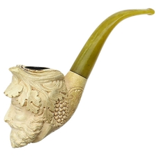 Turkish Estates Ural Meerschaum Carved Bacchus (with Case)