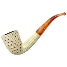 Turkish Estates Unknown Meerschaum Lattice Bent Dublin (with Case)