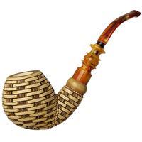 Turkish Estates Unknown Meerschaum Basket with Flower (with Case) (Unsmoked)